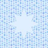 Sömlösa blått färgar den modell-, snöflinga- eller stjärnaramen, vinterbakgrund Royaltyfri Illustrationer
