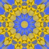 Sömlösa blått för gul guld för stjärnamodell Arkivbild