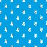 Sömlösa blått för kökhandskemodell Arkivfoton