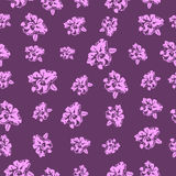 Sömlösa blom- modellorkidér - illustration Arkivbilder