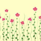Sömlösa blommor Stock Illustrationer