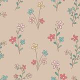 Sömlösa blommor royaltyfri illustrationer