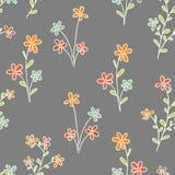 Sömlösa blommor vektor illustrationer