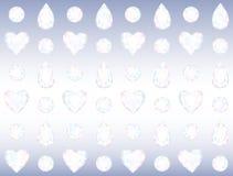 Sömlösa Crystal Wall Royaltyfri Bild