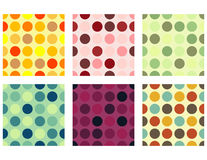 Sömlösa Dots Background Set Royaltyfri Foto