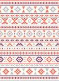 Sömlösa etniska modelltexturer Apelsin & lilafärger Royaltyfri Bild