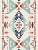 Sömlösa etniska modelltexturer Geometriskt tryck för abstrakt Navajo Grå färger och apelsinfärger Arkivbild