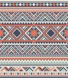 Sömlösa etniska modelltexturer Geometriskt tryck för abstrakt Navajo Grå färger och apelsinfärger Arkivfoton