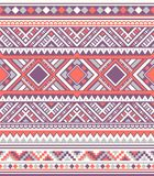 Sömlösa etniska modelltexturer Orange&Purple färger Arkivbild