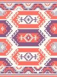 Sömlösa etniska modelltexturer Orange&Purple färger Arkivfoto