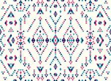 Sömlösa etniska modelltexturer Rosa färg- och blåttfärger Royaltyfri Foto