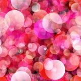 Sömlösa färgrika cirklar för bakgrund Arkivfoto