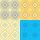Sömlösa färgrika geometriska cirklar för modell också vektor för coreldrawillustration Arkivbilder