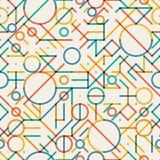 Sömlösa flerfärgade geometriska linjer ojämn modell för vektor Royaltyfri Bild