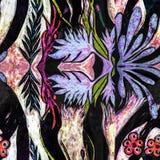 Sömlösa Flora Jungle Zebra Texture arkivfoto