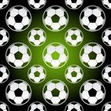 Sömlösa fotbollfotbollbollar Royaltyfria Foton