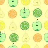 Sömlösa fruktsnitt Arkivbilder
