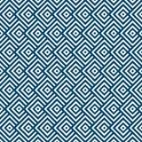 Sömlösa geometriska blåa och vita randiga fyrkanter mönstrar bakgrund royaltyfri illustrationer