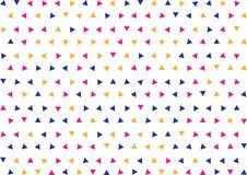 Sömlösa geometriska blåa, rosa och gula trianglar mönstrar bakgrund stock illustrationer