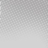 Sömlösa Gray Tiny Circle Getting Smaller som det bleknar Halvton i olika storleksanpassade prickar av färgpulver som simulerar vektor illustrationer