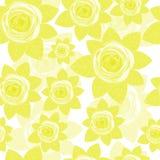Sömlösa gula rosor Arkivfoto