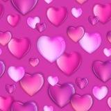 Sömlösa hjärtor mönstrar bakgrund, den lyckliga valentindagdesignen, förälskelseillustration vektor illustrationer