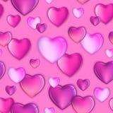 Sömlösa hjärtor mönstrar bakgrund, den lyckliga valentindagdesignen, förälskelseillustration royaltyfri illustrationer