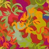 Sömlösa kläckt modell för kamouflage mörka kakier vektor illustrationer