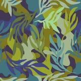 Sömlösa kläckt modell för kamouflage mörka kakier royaltyfri illustrationer
