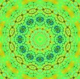 Sömlösa koncentriska blått för gul guld för prydnadgräsplan Arkivfoton