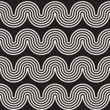 Sömlösa krabba linjer modell Upprepa vektortextur stock illustrationer