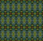 Sömlösa lilor för turkos för olivgrön gräsplan för modell Fotografering för Bildbyråer