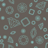 Sömlösa modelldiamanter Arkivfoton