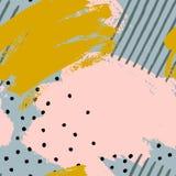 Sömlösa modeller för abstrakt borste royaltyfri illustrationer
