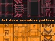 Sömlösa modeller för art déco Geometrisk sömlös modell för art déco Royaltyfri Fotografi