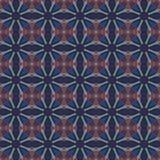Sömlösa modeller för blå universell vektor som belägger med tegel geometriska prydnadar Royaltyfri Foto