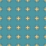 Sömlösa modeller för blå universell vektor som belägger med tegel geometriska prydnadar Arkivfoto