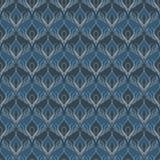 Sömlösa modeller för blå universell vektor som belägger med tegel geometriska prydnadar Arkivfoton