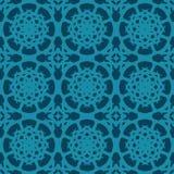 Sömlösa modeller för blå universell vektor som belägger med tegel geometriska prydnadar Arkivbilder