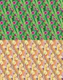 Sömlösa modeller för blommig äng vektor illustrationer