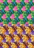 Sömlösa modeller för blommiga buskar vektor illustrationer