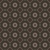Sömlösa modeller för brun universell vektor som belägger med tegel geometriska prydnadar Arkivfoto