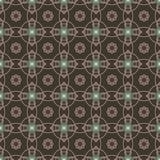 Sömlösa modeller för brun universell vektor som belägger med tegel geometriska prydnadar Arkivbild