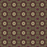 Sömlösa modeller för brun universell vektor som belägger med tegel geometriska prydnadar Arkivfoton