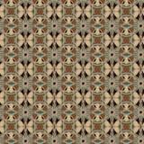 Sömlösa modeller för brun universell vektor som belägger med tegel geometriska prydnadar Fotografering för Bildbyråer
