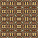 Sömlösa modeller för brun universell vektor som belägger med tegel geometriska prydnadar Arkivbilder