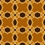 Sömlösa modeller för brun universell vektor som belägger med tegel geometriska prydnadar Royaltyfria Bilder