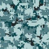 Sömlösa modeller för Digital kamouflage royaltyfri illustrationer