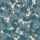 Sömlösa modeller för Digital kamouflage vektor illustrationer