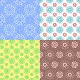 Sömlösa modeller för geometrisk spirograph Bakgrunder för delikat design Seamless texturera med blom- beståndsdelar Ackground royaltyfri illustrationer